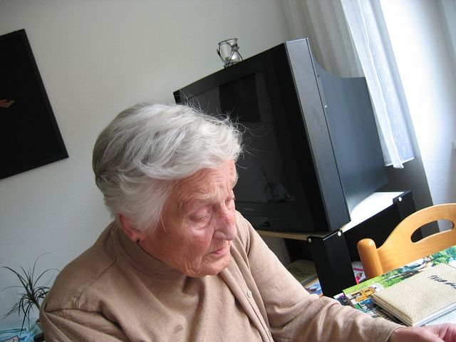 Old woman with dementia