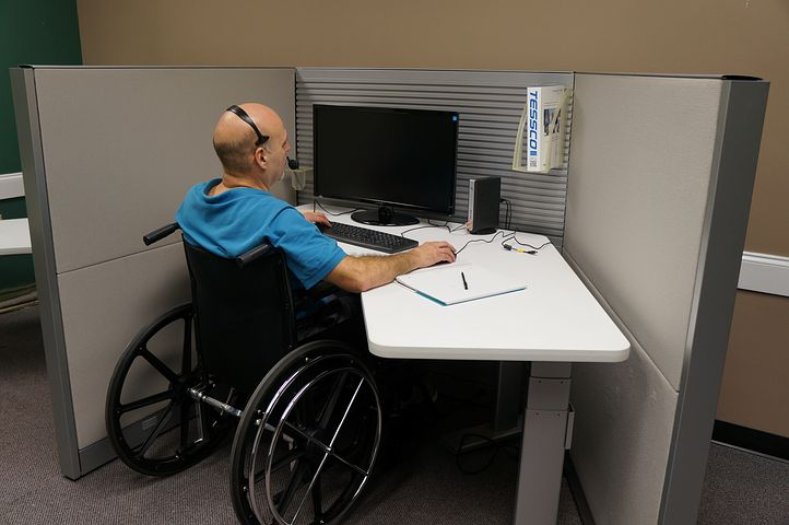 person with disability in a wheelchair